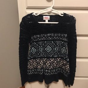 Justice knit top size 5